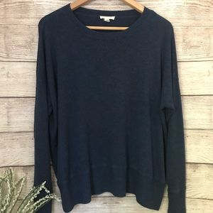Eileen Fisher Navy Blue Scoop Neck Sweater